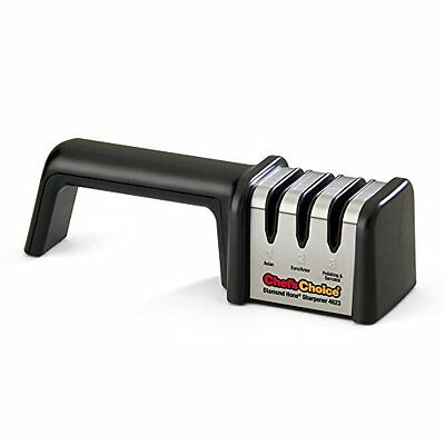 Knife Sharpeners Chefs Choice 4623 Diamond Hone 3-Stage Manual Sharpener for