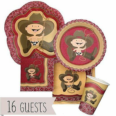 Cocktail Napkins Little Cowboy - Western Party Tableware Plates, Cups, Napkins -