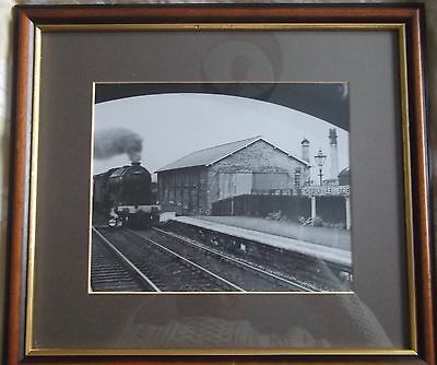 Framed Picture Print Steam Train Approaching THE STATION CHESTER LE STREET