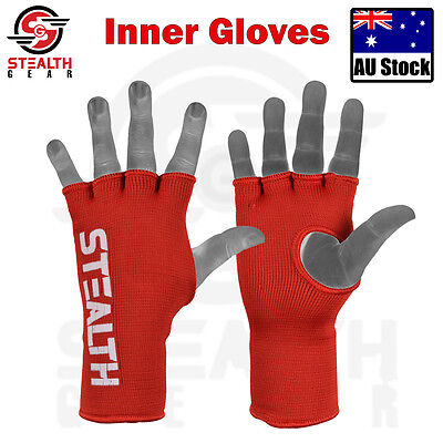 INNER GLOVES RED Fist bandages MMA Boxing protective Kick MUAY THAI hand wraps
