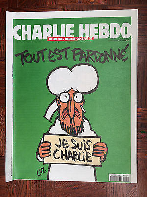 french newspaper CHARLIE HEBDO N°1178 Real Physical Paper 14/01/2015 new