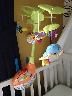 VTech Musical Cot/Crib Mobile - Used Twice