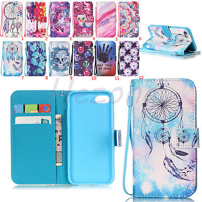 Card Slot Leather Wallet Case Magnetic Flip Cover Stand For iPhone 5 6S 7 7 Plus