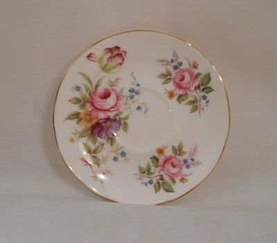 Vintage Duchess Fine Bone China Saucer - English Floral Pattern - Gold Trim New