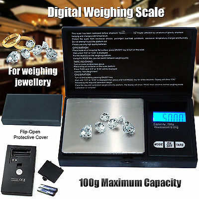 Genuine Electronic Pocket Mini Digital Jewellery Weighing Scale 0.01gWeight 100g