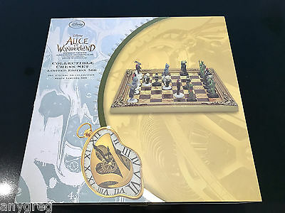 Alice wonderland Through the Looking Glass Limited Ed Chess Set Disney RRP£350
