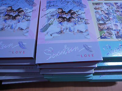 SEVENTEEN - First Love & Letter (1st Promo) with Autographed (Signed)