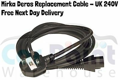 Mirka DEROS Mains Cable with UK Plug CE 230 V 4.3M  - Free Next Day Delivery!