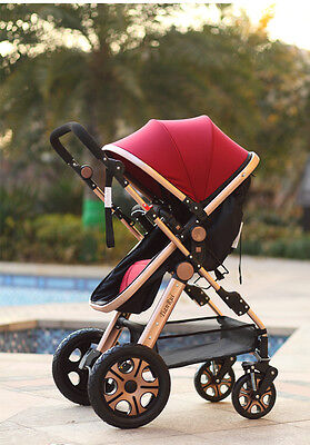 New Baby Toddler Pram Stroller Buggy Pushchair Travel System 2 in1