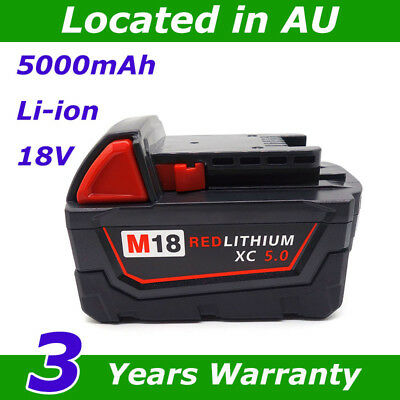 For Milwaukee M18B5 18v 5.0Ah Li-ion Replacement Lithium Battery