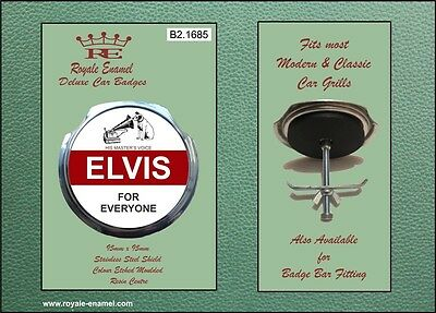 Royale Car Grill Badge & fittings ELVIS PRESLEY FOR EVERYONE MOON WHO - B2.1685