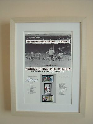 ALF RAMSEY SIGNED & Framed Westminster World Cup 1966 Limited Edition