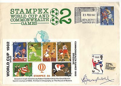 Bobby Moore hand signed FDC England & West Ham legend World Cup 1982 1966
