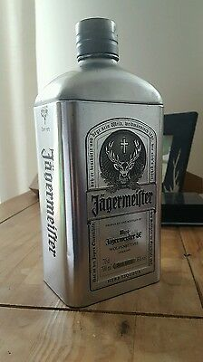 Jagermeister tin bottle
