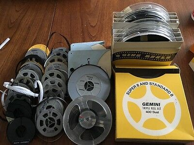 Large Collection of Vintage 8mm Amateur Home Movie Reels, 1960's and 1970's