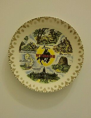 """Wyoming State Souvenir Plate 7 1/4"""" Collector"""