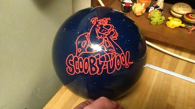 Scooby Doo Bowling Ball,2000,cartoon network,blue sparkle,undrilled,vg!