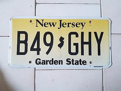 Plaque d immatriculation New Jersey B49GHY USA US License Plate