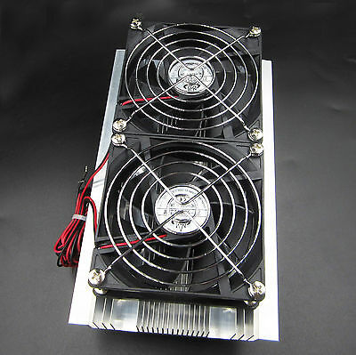 Thermoelectric Peltier Refrigeration Double Cooling System Kit Cooler Fan DIY