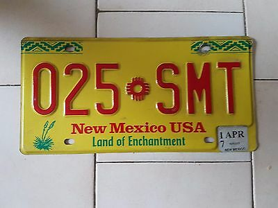 Plaque d immatriculation New Mexico 025-SMT USA US License Plate