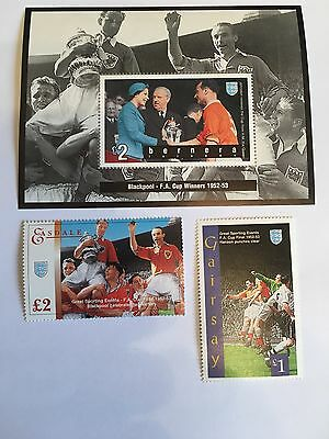 Football Stamps Mnh Blackpool Bolton 1952-3 Fa Cup Matthews Final