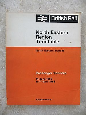 British Rail North Eastern Region Passenger Timetable June 1965 to April 1966