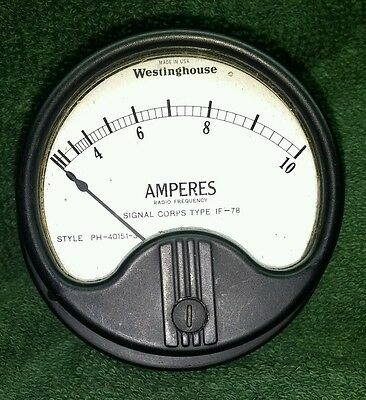 Vintage WESTINGHOUSE ~ AMPERES Meter / Gauge~ with Box ~ SHIPPING INCLUDED