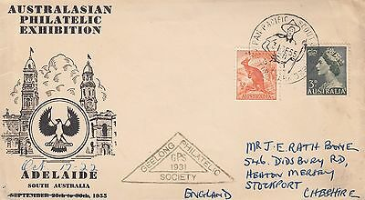 K 1576 ANPEX Scouts Clifford Park 1955 cover ; Geelong Philatelic Society !