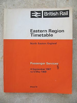 British Rail North Eastern Region Passenger Timetable Sep 1967 to May 1968