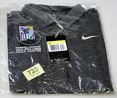 Ladies Nike Dri-Fit Golf Polo Shirt with Logo. Size S Grey (tag733)