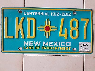 Plaque d immatriculation New Mexico LKD-489 USA US License Plate