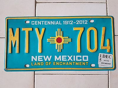 Plaque d immatriculation New Mexico MTY-704 USA US License Plate