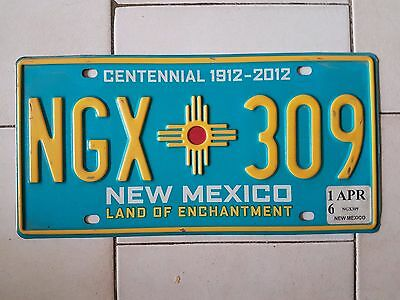Plaque d immatriculation New Mexico NGX-309 USA US License Plate
