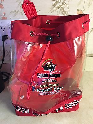 Captain Morgan Original Spiced Rum Parrot Bay Red And Clear Sling Pack