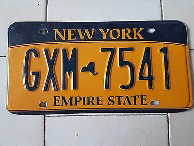 Plaque d immatriculation New York GXM-7541 USA US License Plate