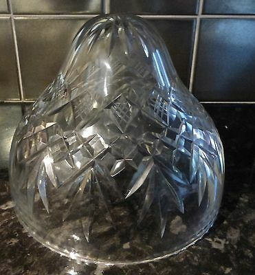 Antique cut glass lamp shade c.1900