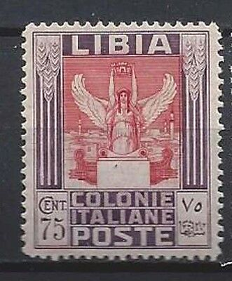 LIBIA 1931 Pittorica 75c MH* (CK)