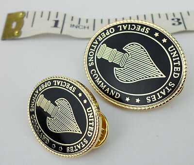 Two Metal Military Us Special Operations Command Badge Pin Ussocom Insignia-213