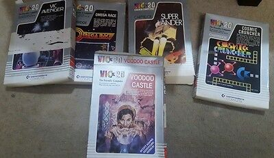 Selection of games for the Commodore Vic 20