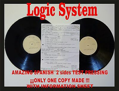 Logic System - Logic Amazing Spanish Test Pressing. Only 1 copy made!