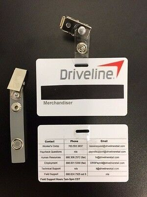 Driveline Employee Name Badge - Basic with Aligator Clip