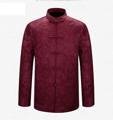 Double Deck Brand New Chinese Traditional Men's Kung Fu Jackets Coat M-3XL