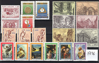 Vatican 1976 Complete Year 5 Sets MNH SC # 590-606, C60-C92