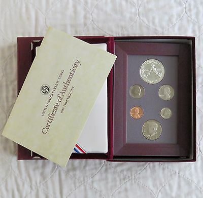 USA 1988 PRESTIGE 6 COIN PROOF YEAR SET WITH OLYMPIC SILVER DOLLAR - complete