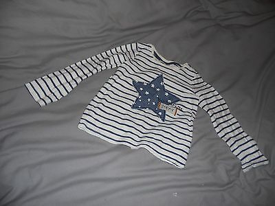 blue and white striped long sleeved top by next 3-4