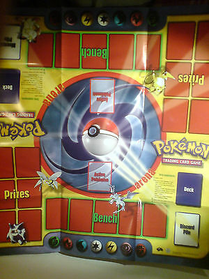 2000 wizards of coast pokemon tcg battle play mat, excellent condition (base 2?)