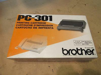 Lot of TWO (2) Genuine Brother PC-301 Fax/Printer Cartridge Retail Packaging New