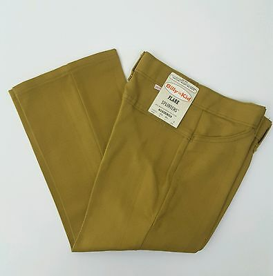 Billy The Kid Western Pants NOS NWT Deadstock Size 6 50s Mustard Brown Yellow