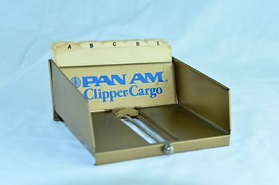 Vintage Original Pan Am Clipper Cargo Tarco Desk Address Card File Adresskartei