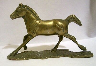 Vintage Brass Galloping Horse / Colt Figurine